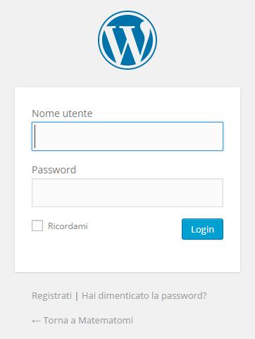 Inserisci il nome utente che hai scelto e la password.