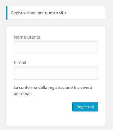 Scegli un nome e scrivi il tuo indirizzo E-mail
