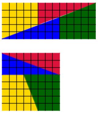 Un rettangolo 5x13 e un quadrato 8x8 che paiono equiscomponibili. Come è possibile?