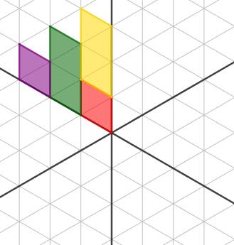 figura 1 - trova le immagini tramite riflessioni rispetto agli assi indicati