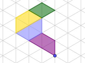 figura 2 - trova le immagini tramite rotazioni successive di 60° in senso orario
