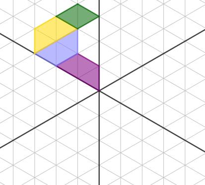 figura 2 - trova le immagini tramite riflessioni rispetto agli assi indicati