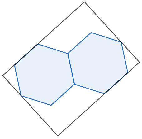 Se l'area di ciascun rettangolo è 6, quanto misura l'area del rettangolo? Da un puzzle di Catriona Shearer